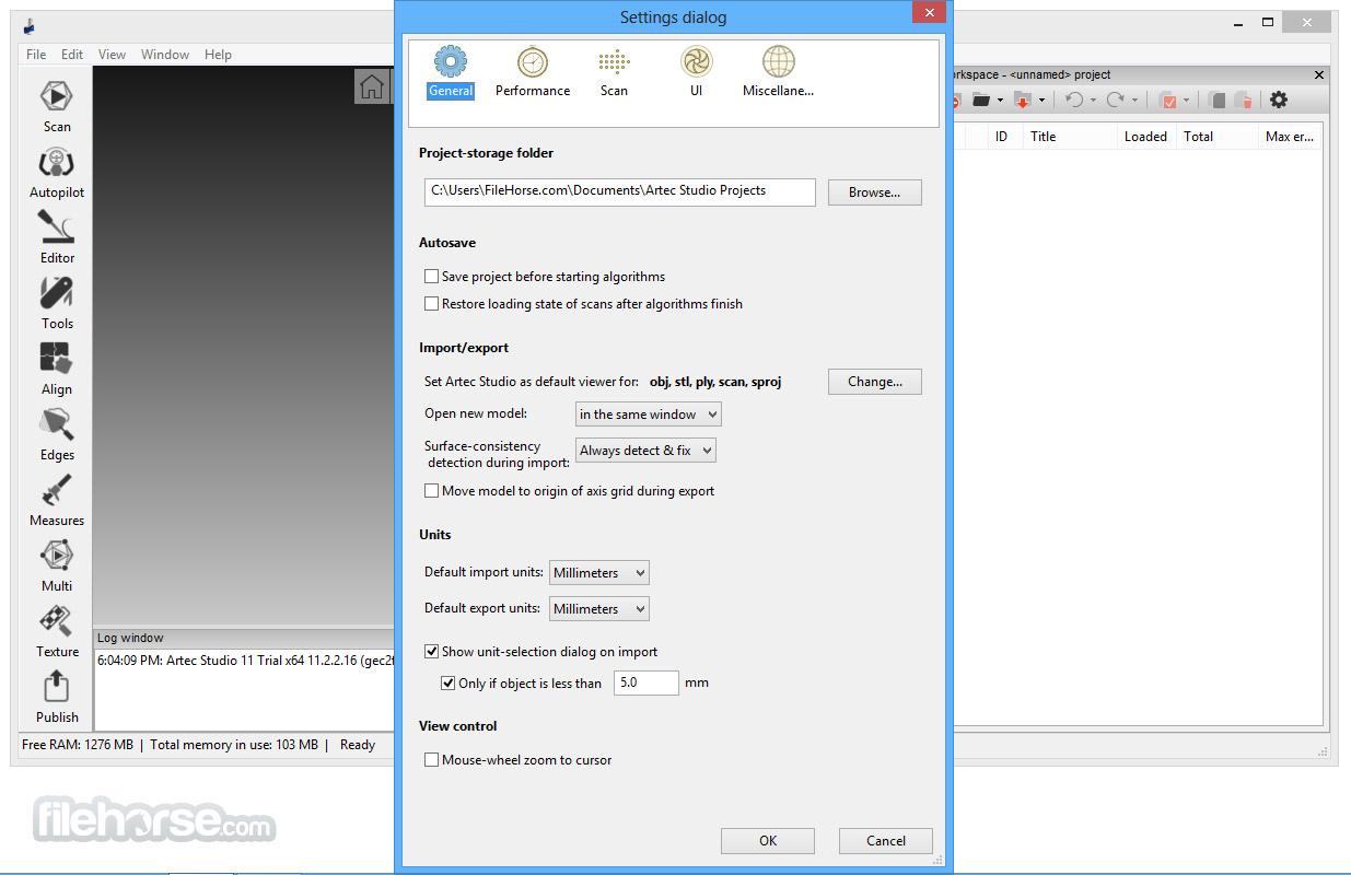 Artec Studio 12.1.6.16 (64-bit) Captura de Pantalla 5