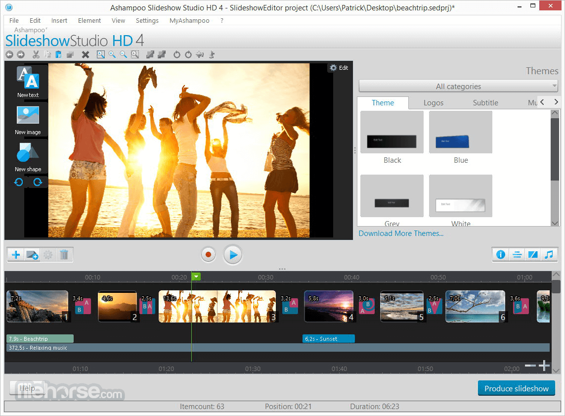 Ashampoo Slideshow Studio HD 4.0.8 Screenshot 1
