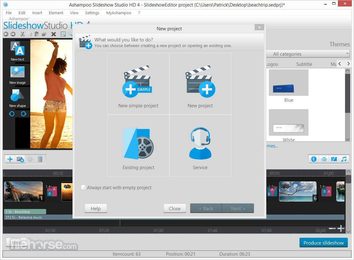 Ashampoo Slideshow Studio HD 4.0.8 Screenshot 2
