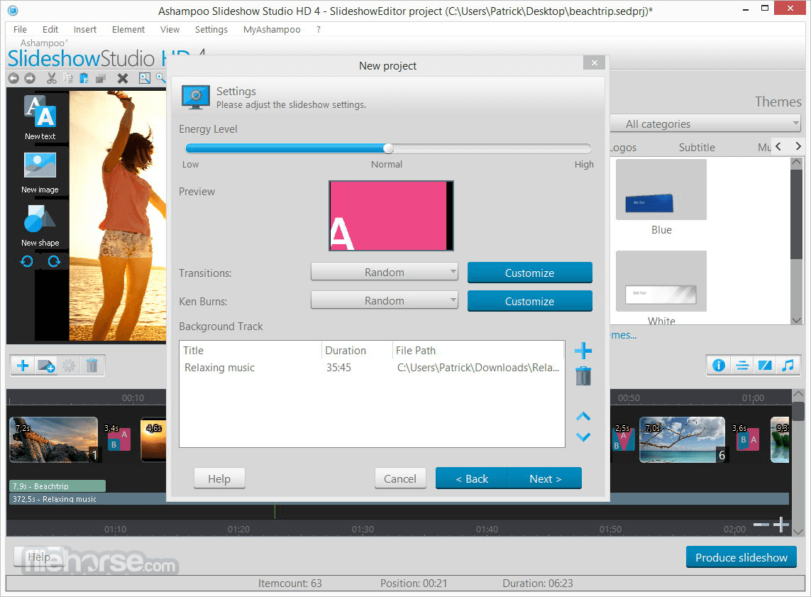 Ashampoo Slideshow Studio HD 4.0.8 Screenshot 3