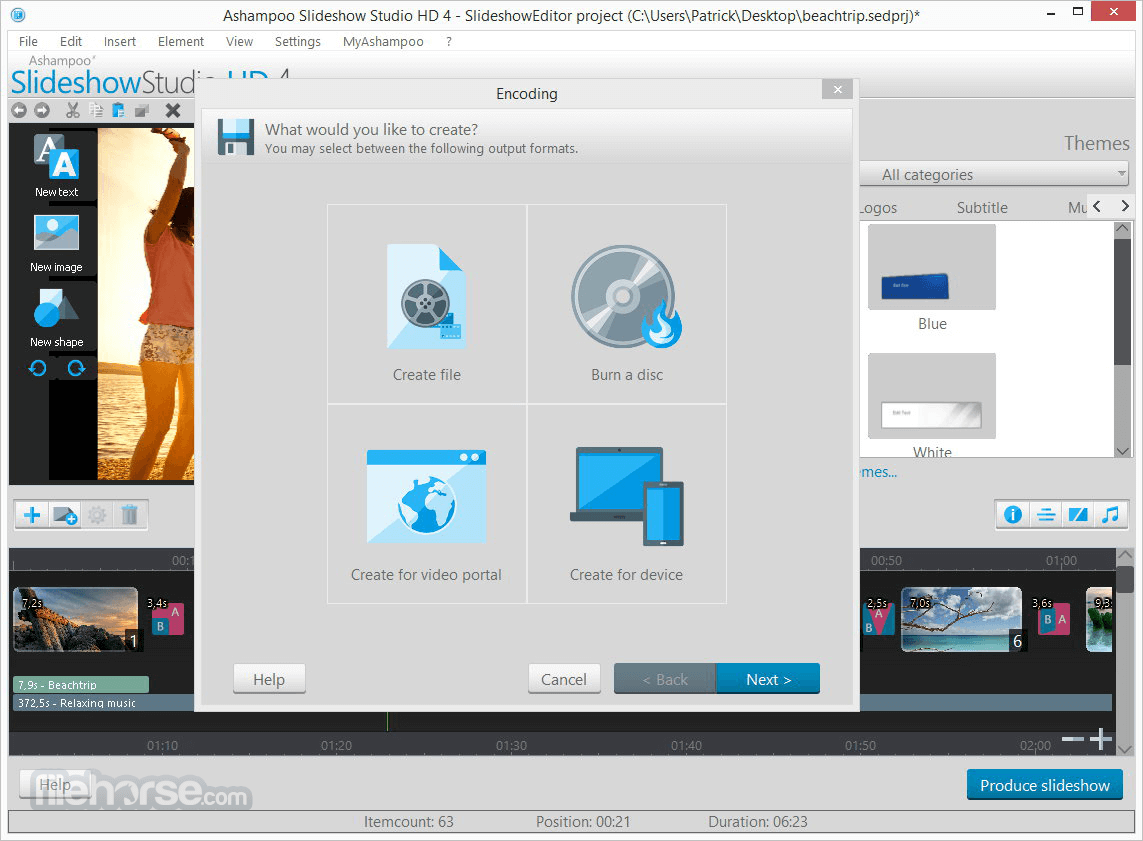 Ashampoo Slideshow Studio HD 4.0.8 Screenshot 4