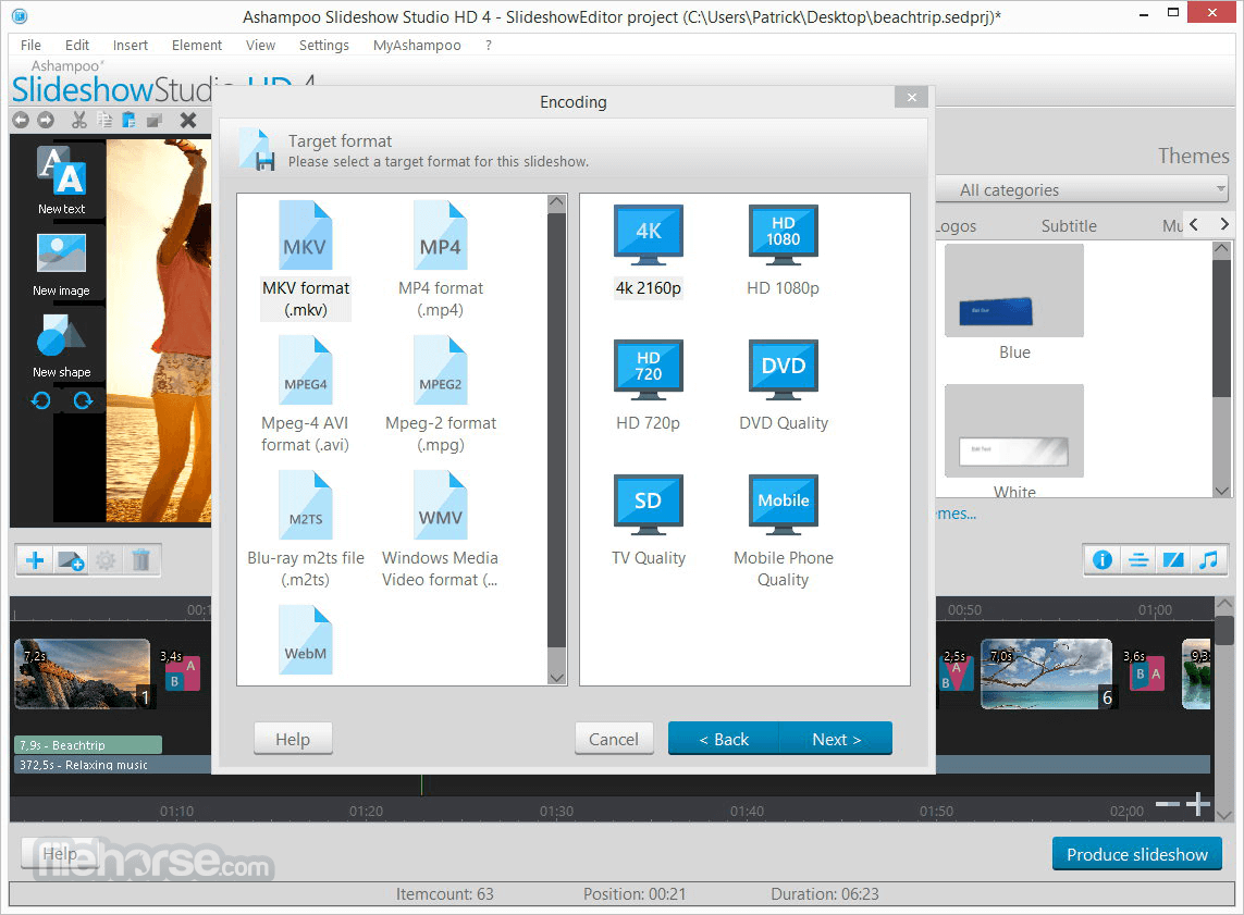 Ashampoo Slideshow Studio HD 4.0.8 Screenshot 5