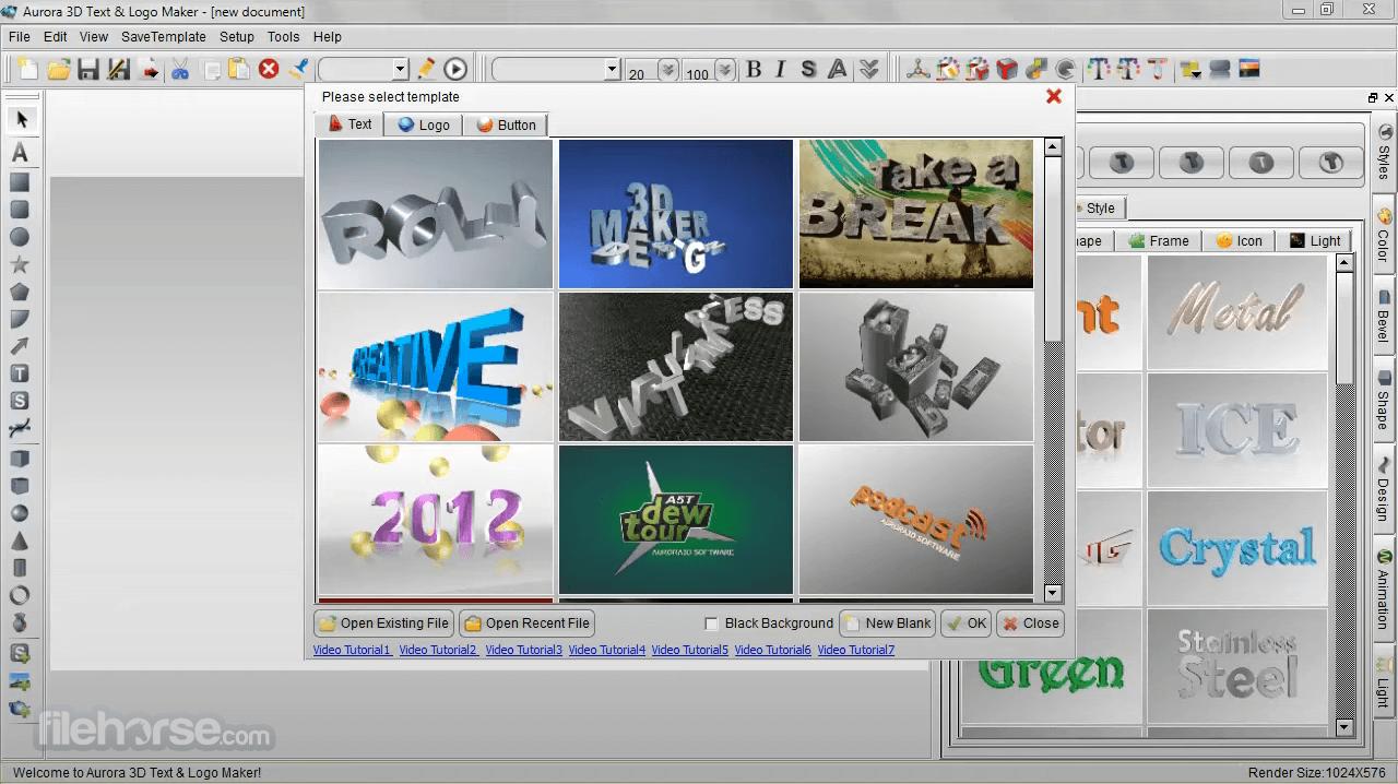 Aurora 3D Text & Logo Maker 16.1.7 Screenshot 1