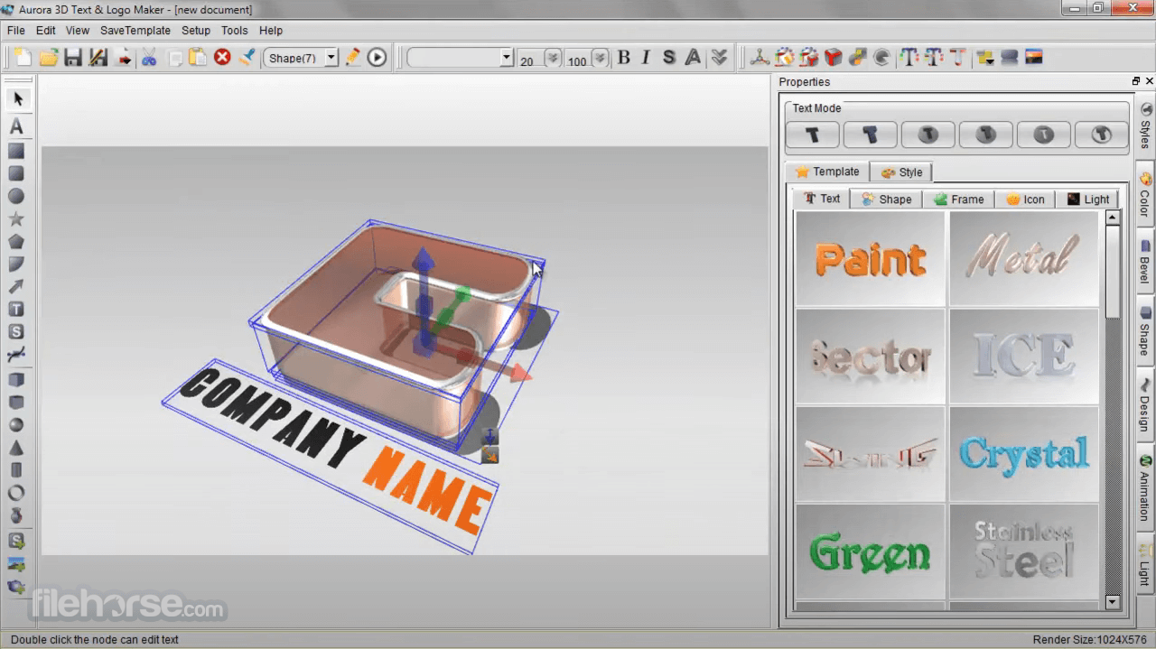 Aurora 3D Text & Logo Maker 16.1.7 Screenshot 2