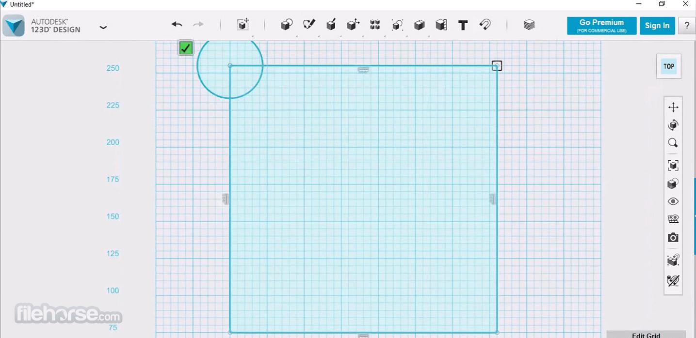 Autodesk 123D Design 2.2.14 (32-bit) Screenshot 1