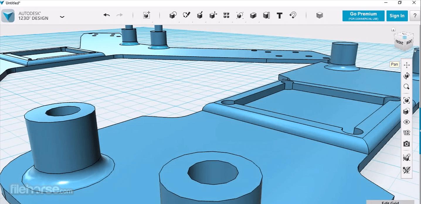 Autodesk 123D Design 2.2.14 (32-bit) Screenshot 4