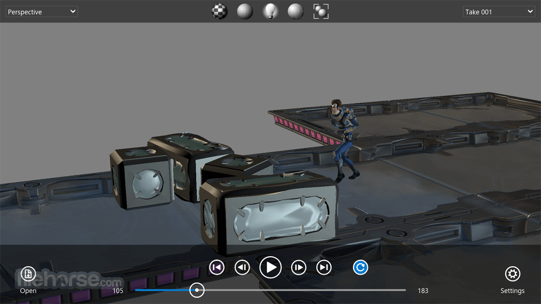 Autodesk FBX Review 1.4.1.0 Captura de Pantalla 3