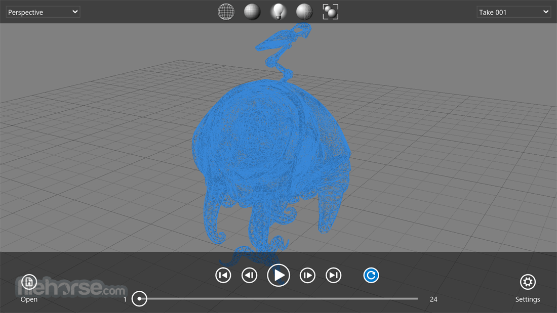 Autodesk FBX Review 1.4.1.0 Captura de Pantalla 4