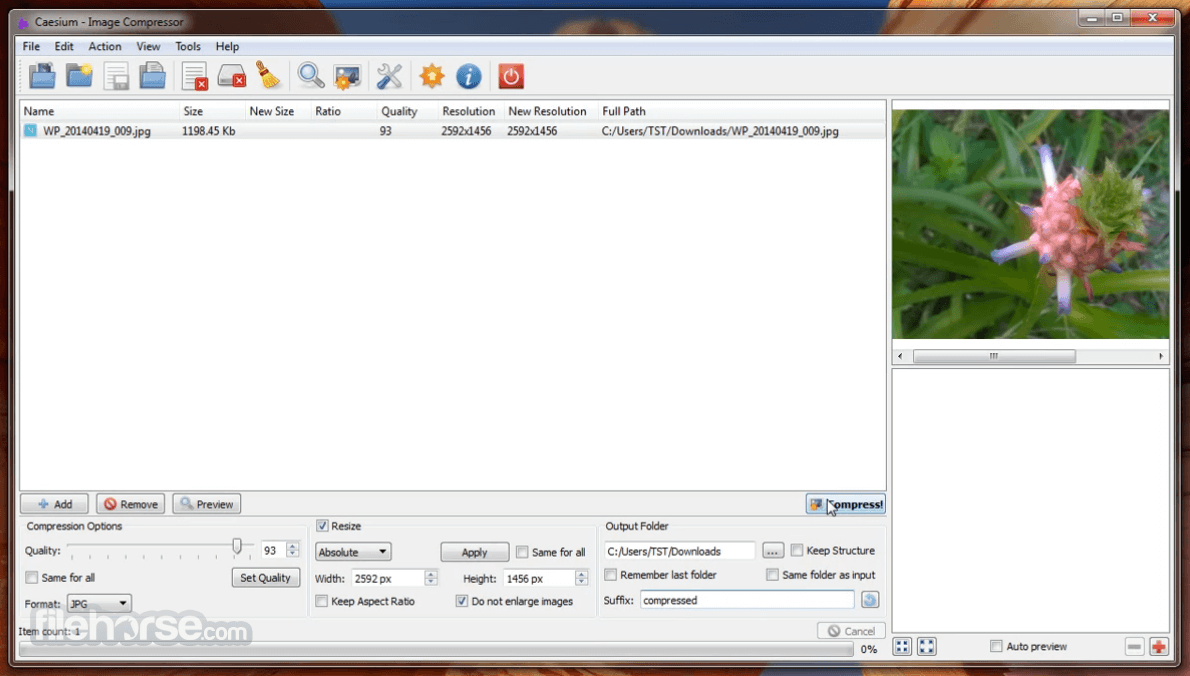 Caesium Image Compressor 1.7.0 Screenshot 1