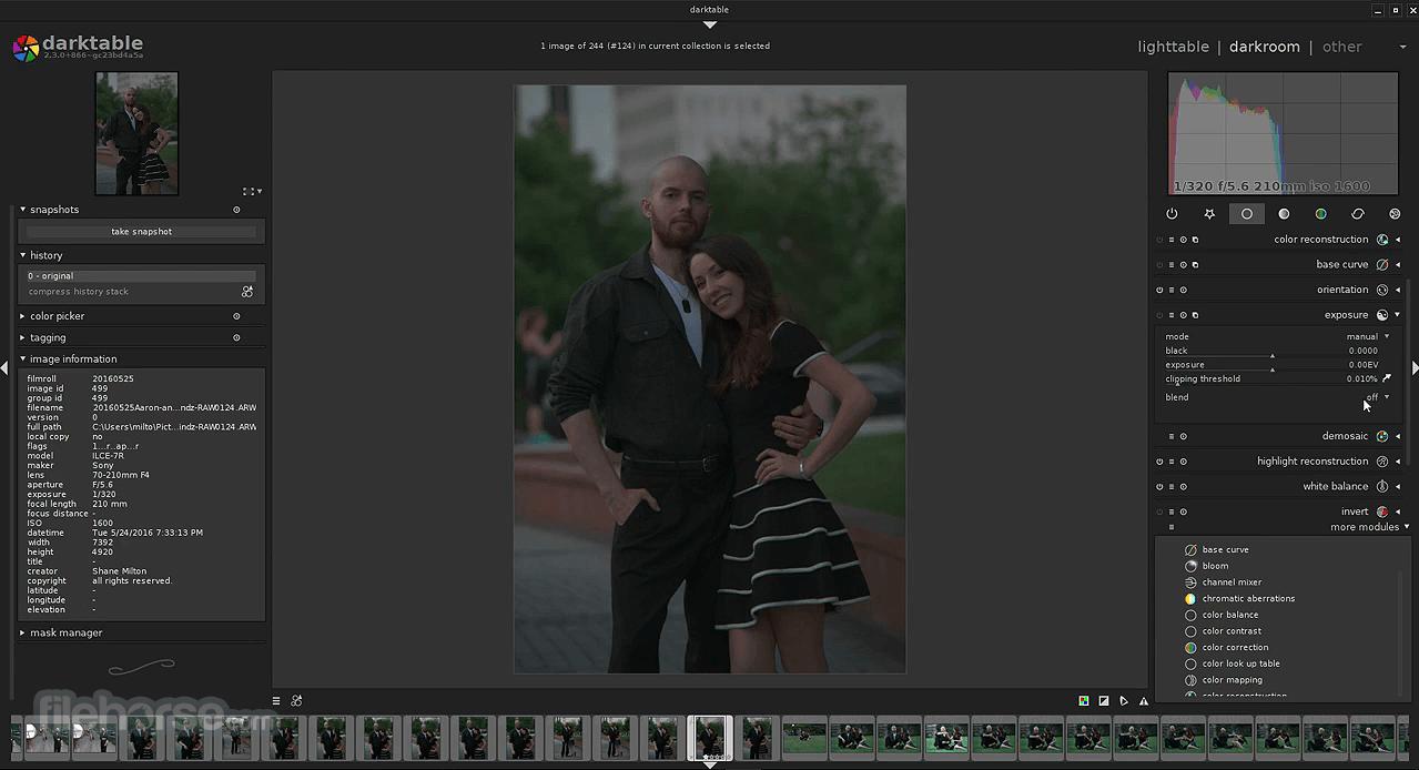 Darktable 3.4.0 Screenshot 3