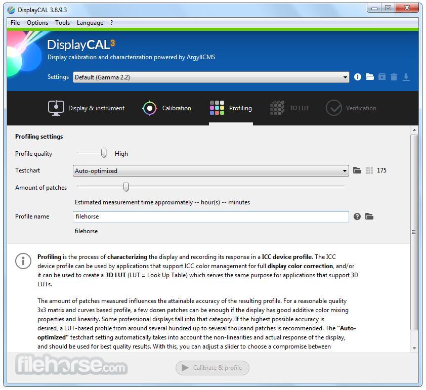 DisplayCAL 3.8.9.3 Screenshot 3