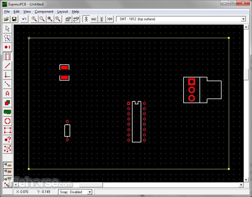 ExpressPCB 7.5.0 Screenshot 2