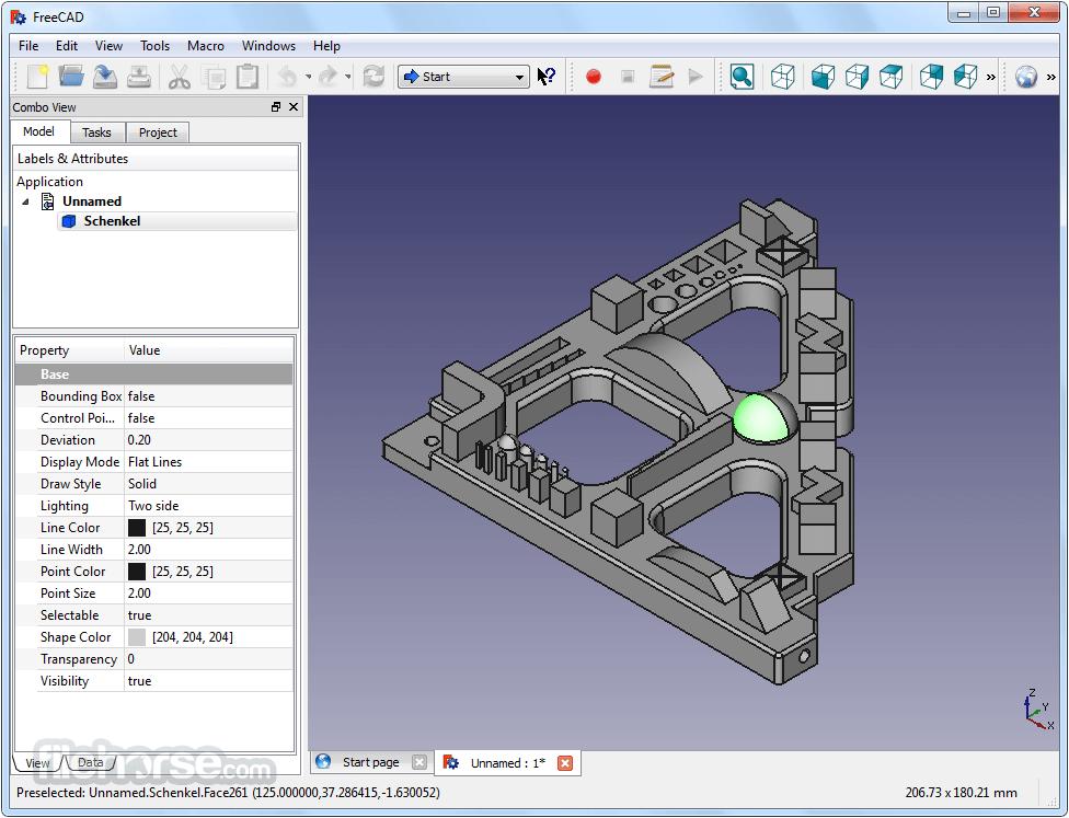 FreeCAD 0.17 Build 13509 (32-bit) Screenshot 2