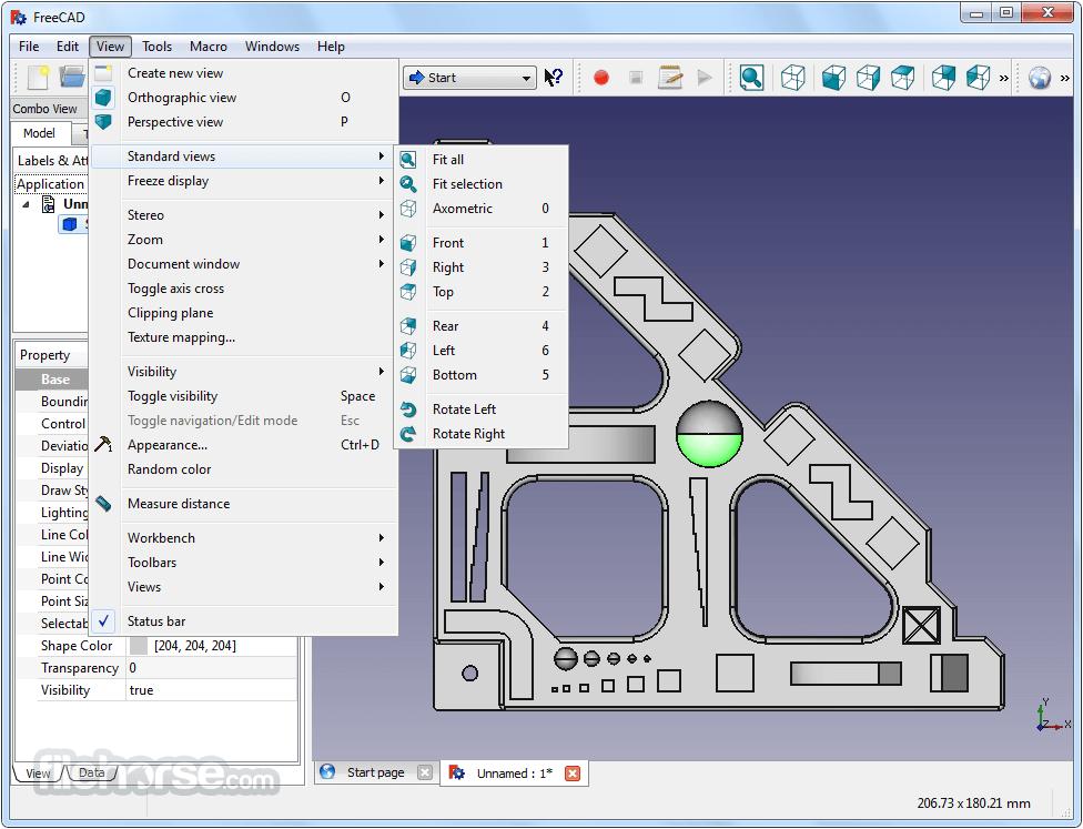 FreeCAD 0.17 Build 13522 (32-bit) Captura de Pantalla 3