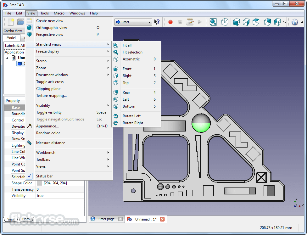FreeCAD 0.17 Build 13509 (32-bit) Screenshot 3