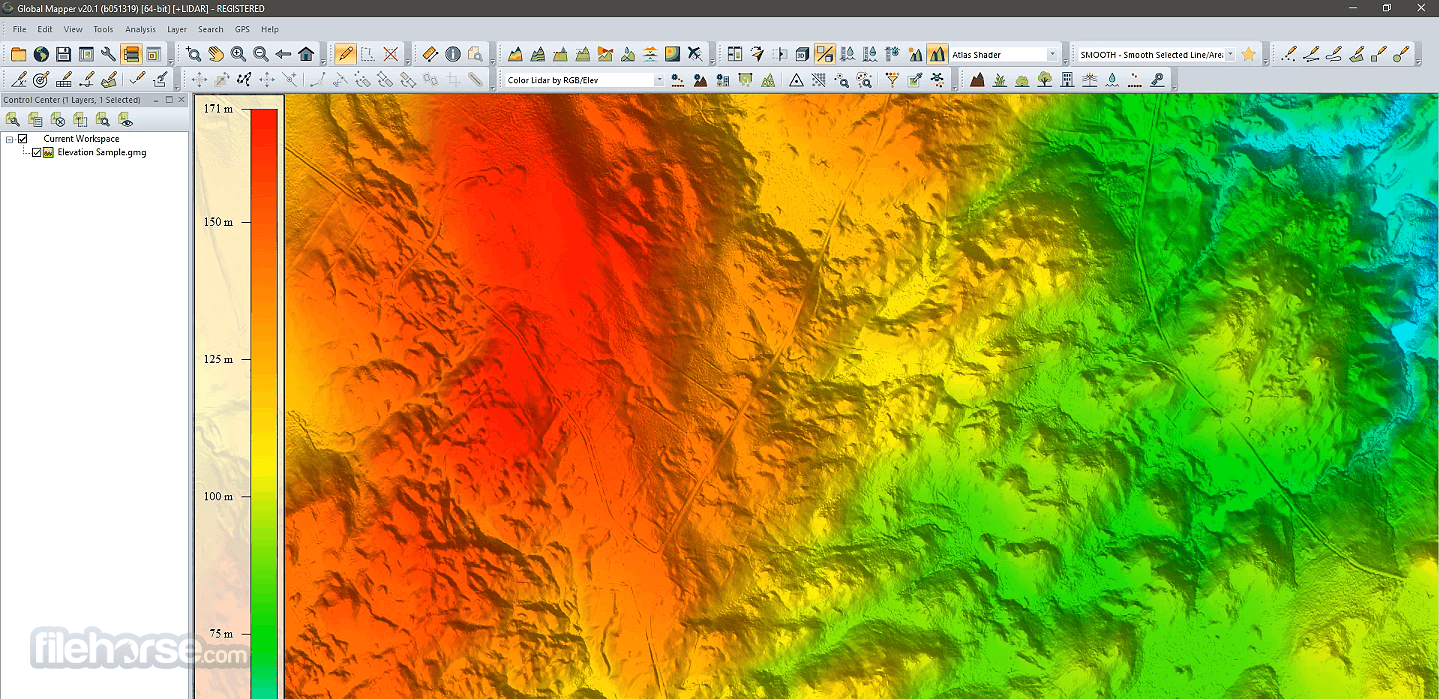 Global Mapper 22.0 (32-bit) Captura de Pantalla 1