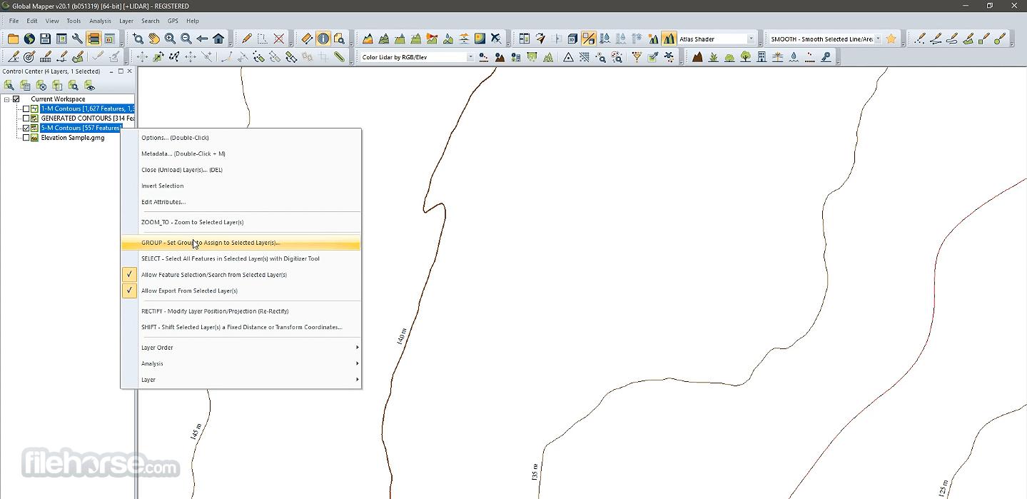 Global Mapper 22.0 (32-bit) Captura de Pantalla 4