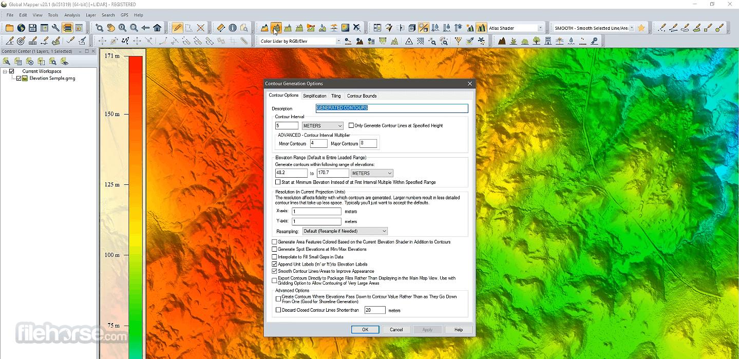 Global Mapper 22.0 (32-bit) Captura de Pantalla 5