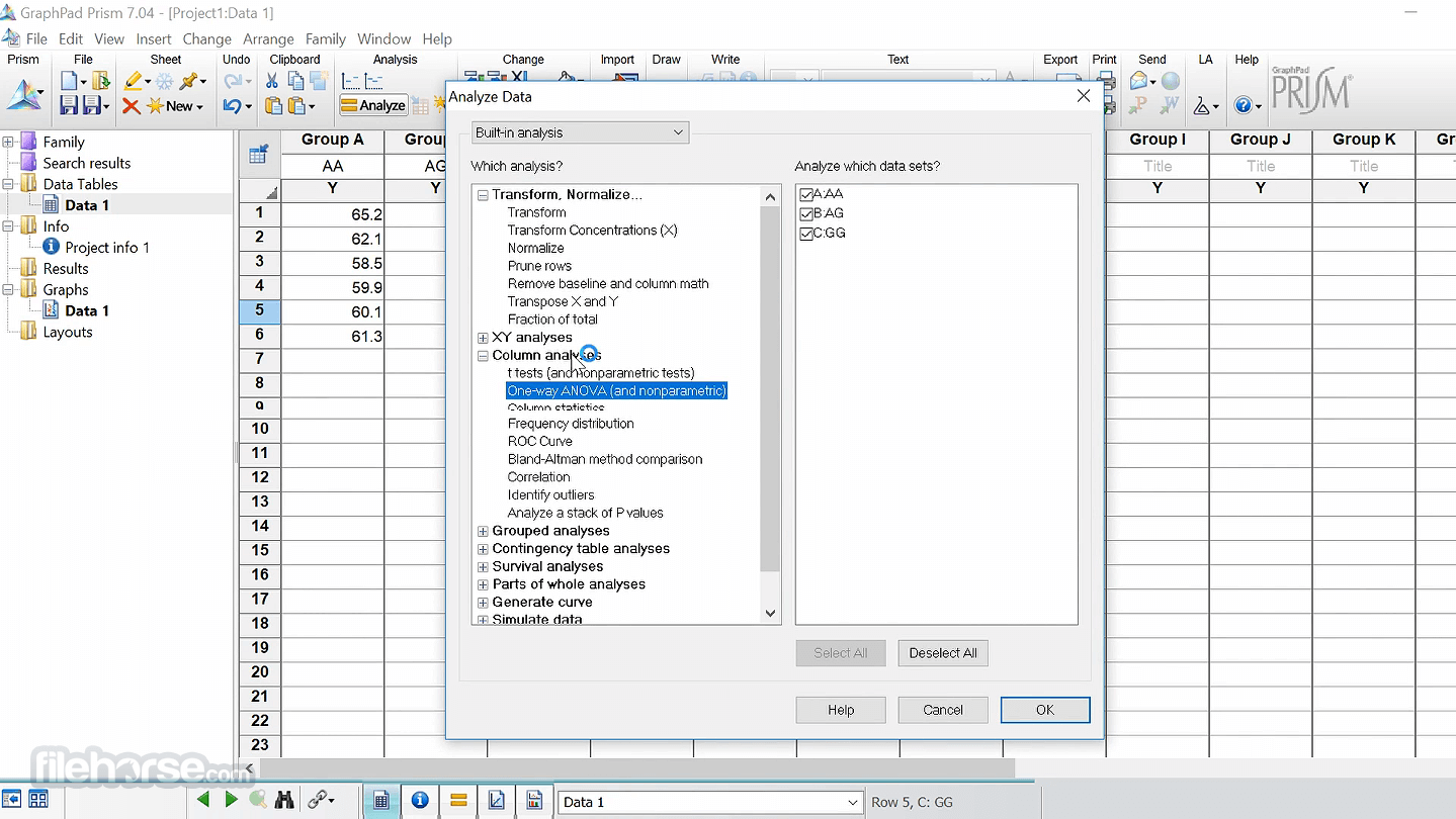 GraphPad Prism 8.4.3.686 Captura de Pantalla 4