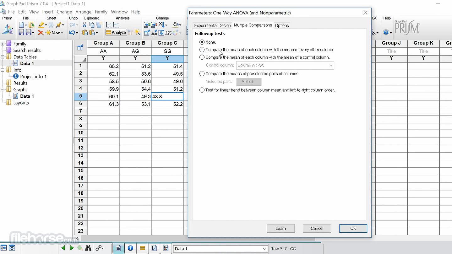 GraphPad Prism 8.4.3.686 Captura de Pantalla 5