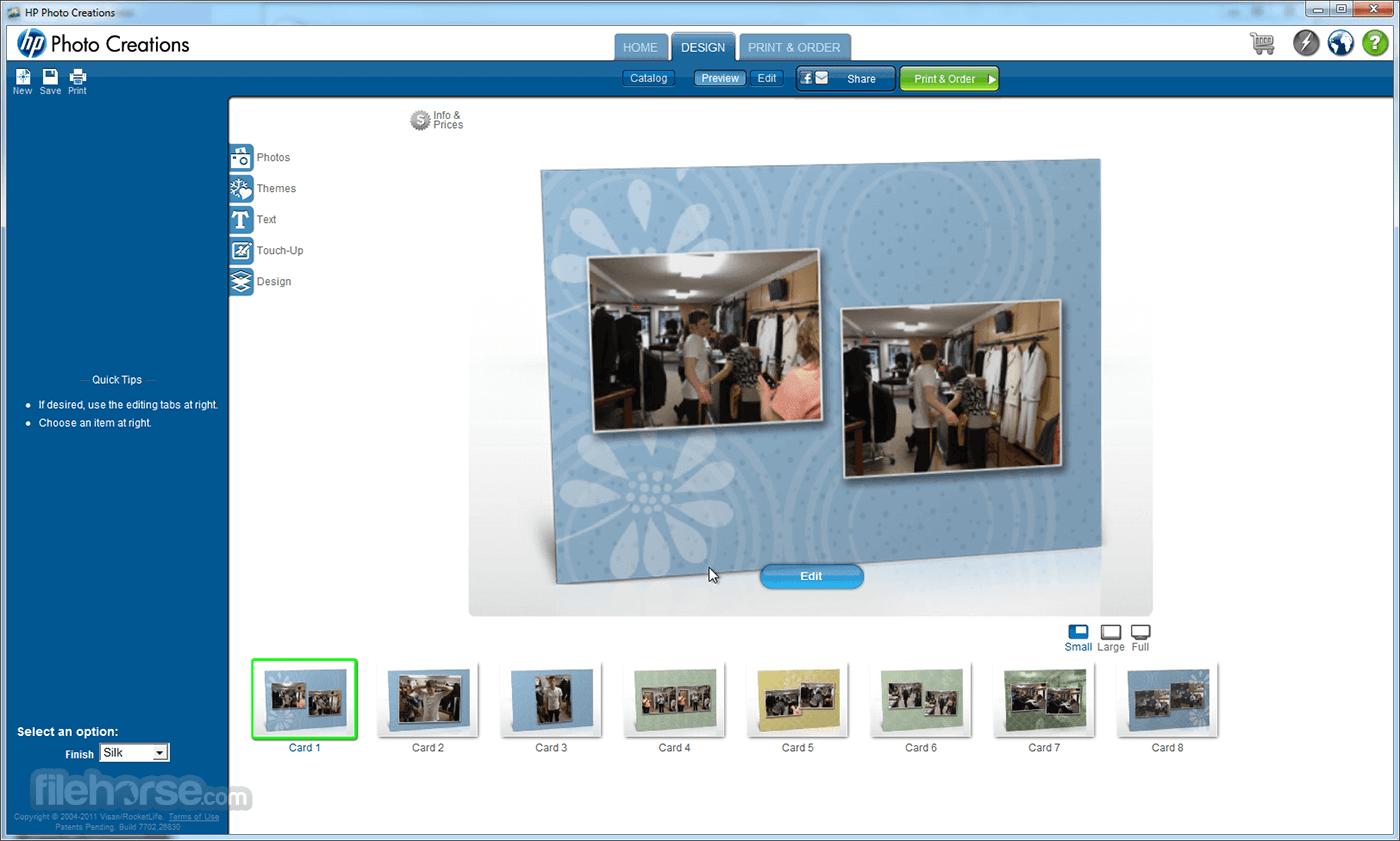 HP Photo Creations 1.0.0.22192 Screenshot 1