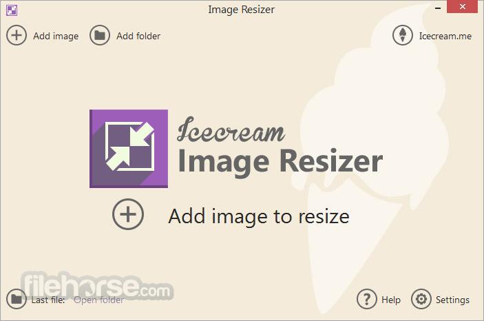 IceCream Image Resizer 1.62 Screenshot 1