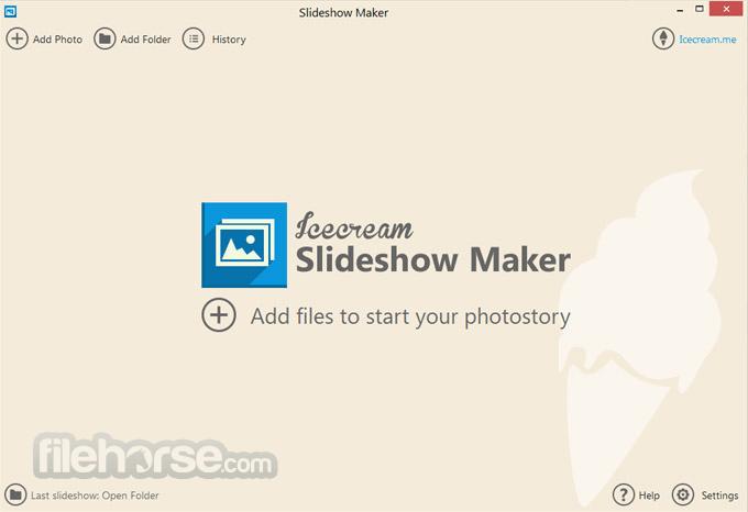 IceCream Slideshow Maker 3.20 Captura de Pantalla 1