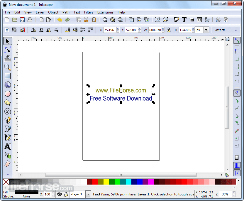 Inkscape 0.92.2 (32-bit) Captura de Pantalla 1
