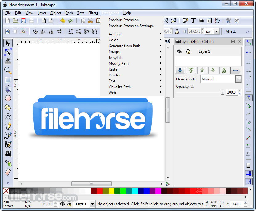 Inkscape 0.92.2 (32-bit) Captura de Pantalla 2