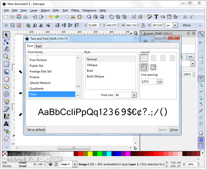 Inkscape 0.92.2 (32-bit) Captura de Pantalla 3