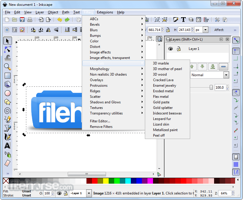 Inkscape 0.92.2 (32-bit) Captura de Pantalla 4