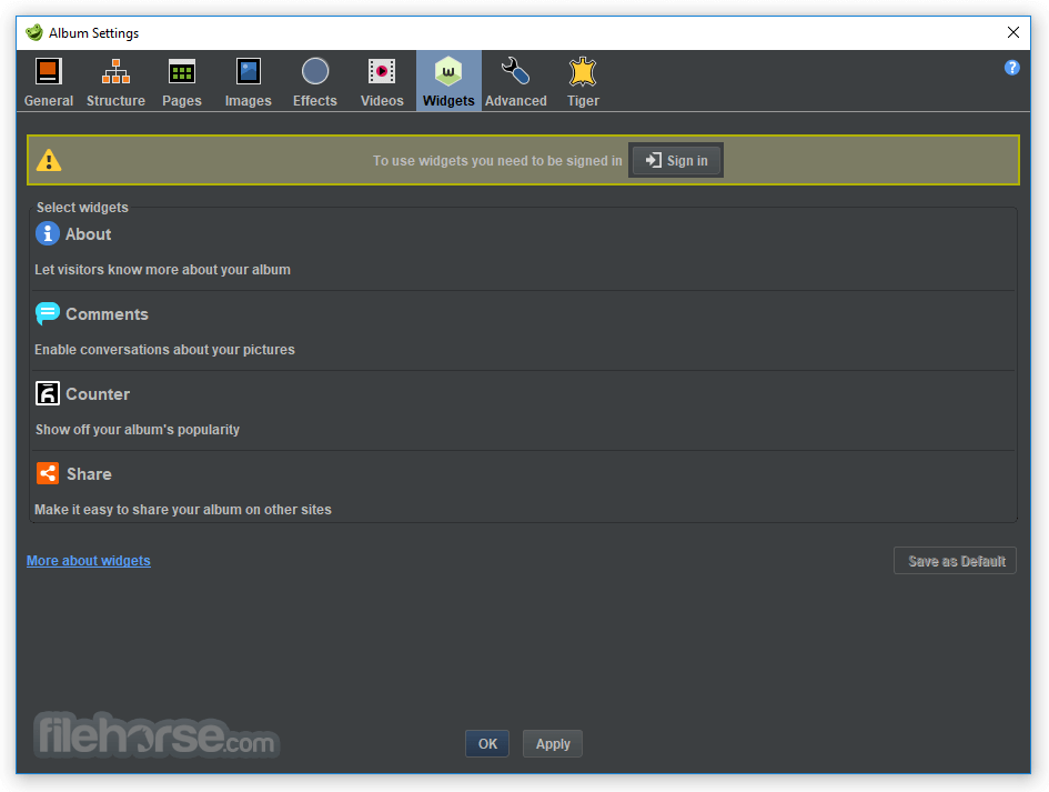 jAlbum 15.1.0 (64-bit) Screenshot 4