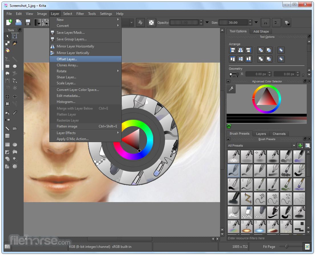 Krita 3.3.3 (32-bit) Screenshot 3