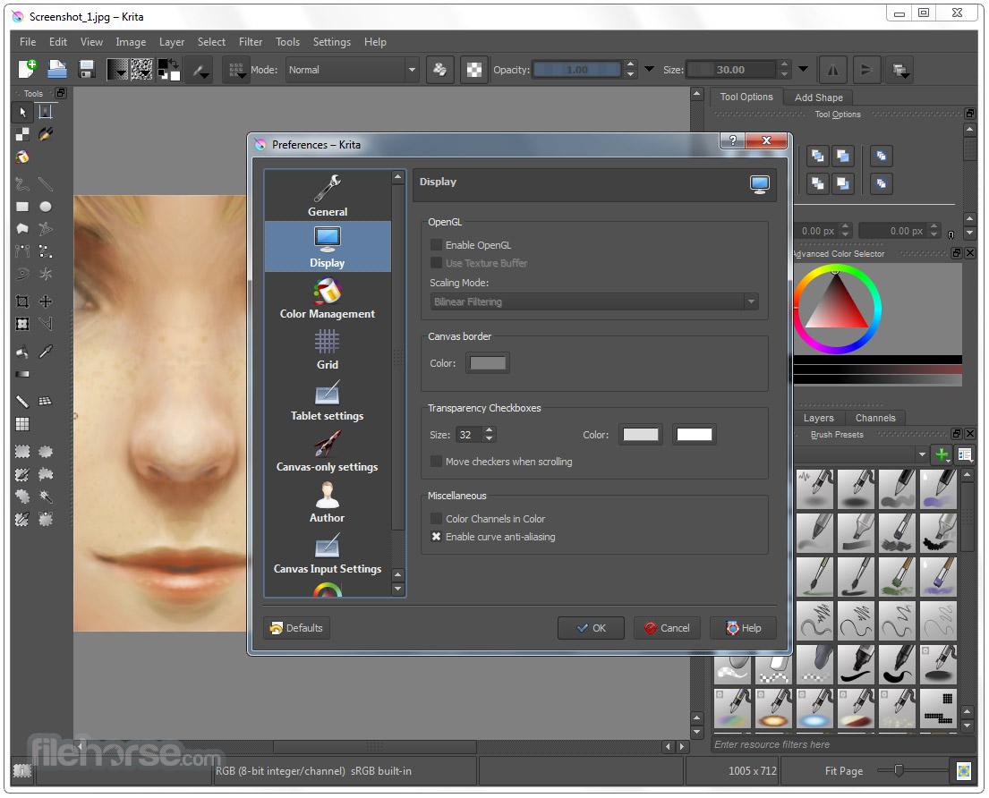 Krita 3.3.3 (32-bit) Screenshot 5
