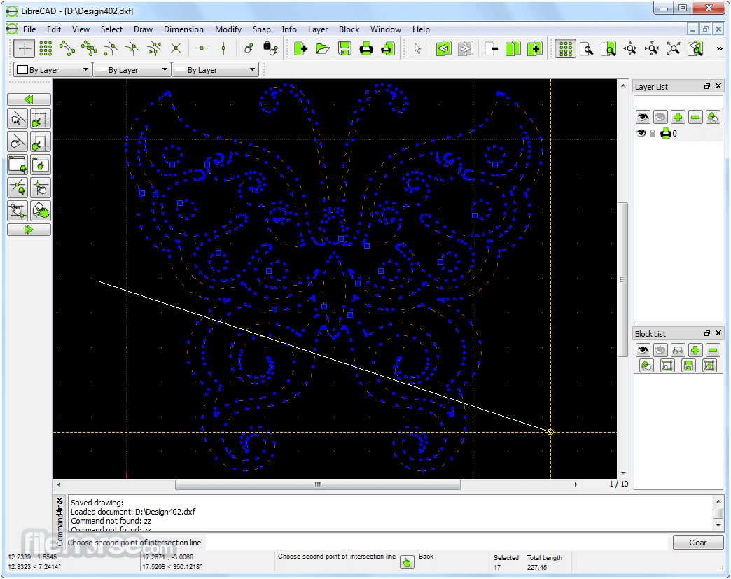 LibreCAD 2.1.3 Captura de Pantalla 2