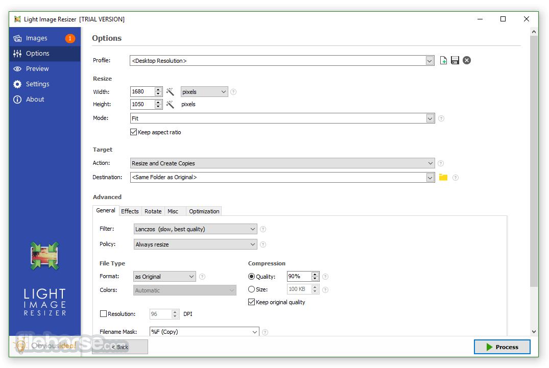 Light Image Resizer 5.1.1.0 Screenshot 2