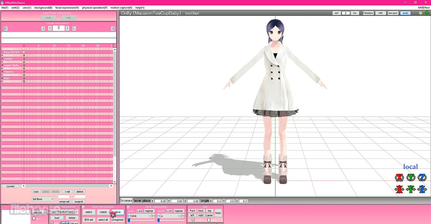 MikuMikuDance MMD 9.31 (32-bit) Captura de Pantalla 1