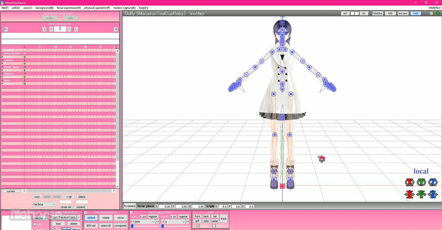 MikuMikuDance MMD 9.31 (32-bit) Captura de Pantalla 2