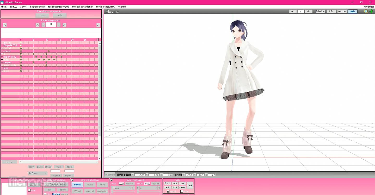 MikuMikuDance MMD 9.31 (32-bit) Captura de Pantalla 5