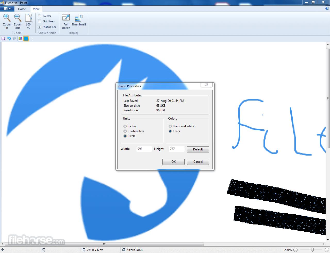 MS Paint 5.1.2600.5918 Screenshot 5