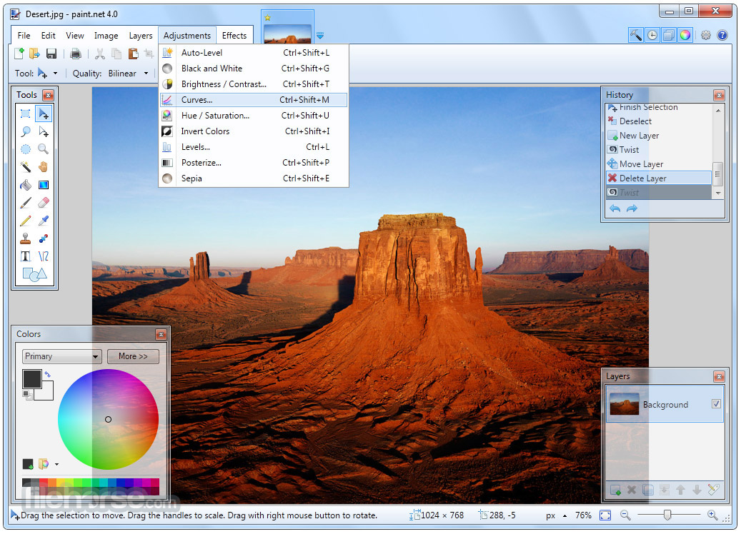 Paint.NET 4.0.21 Screenshot 2