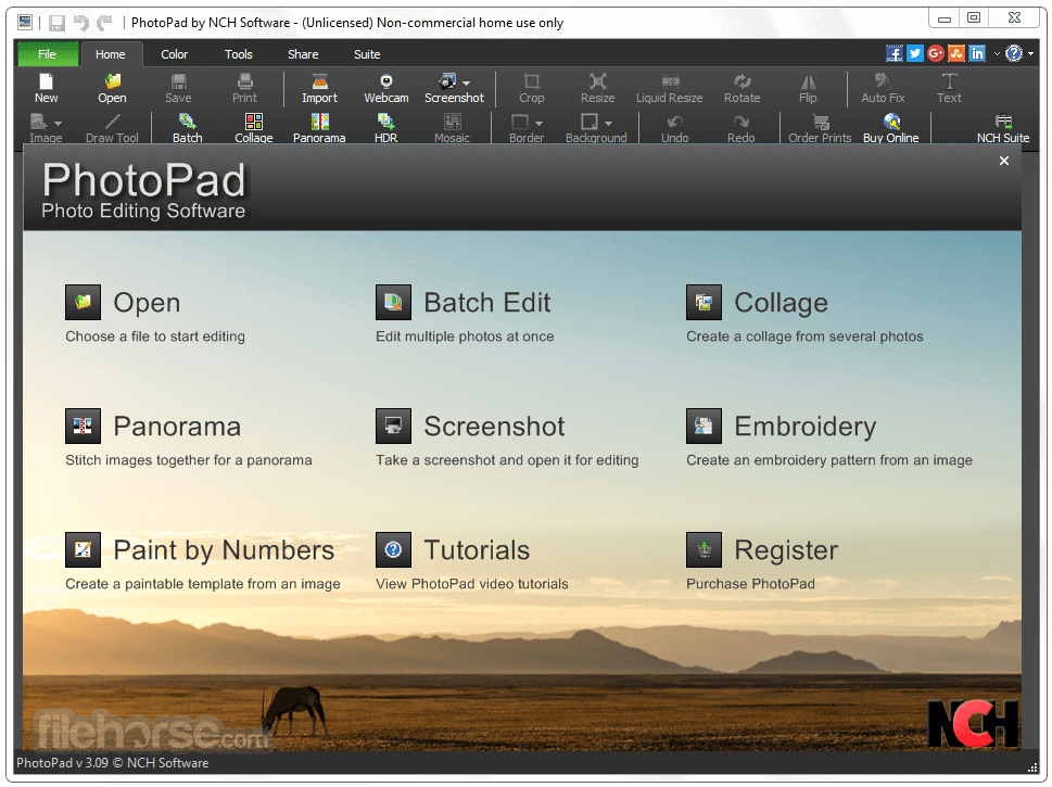 PhotoPad Image Editor 4.18 Screenshot 1