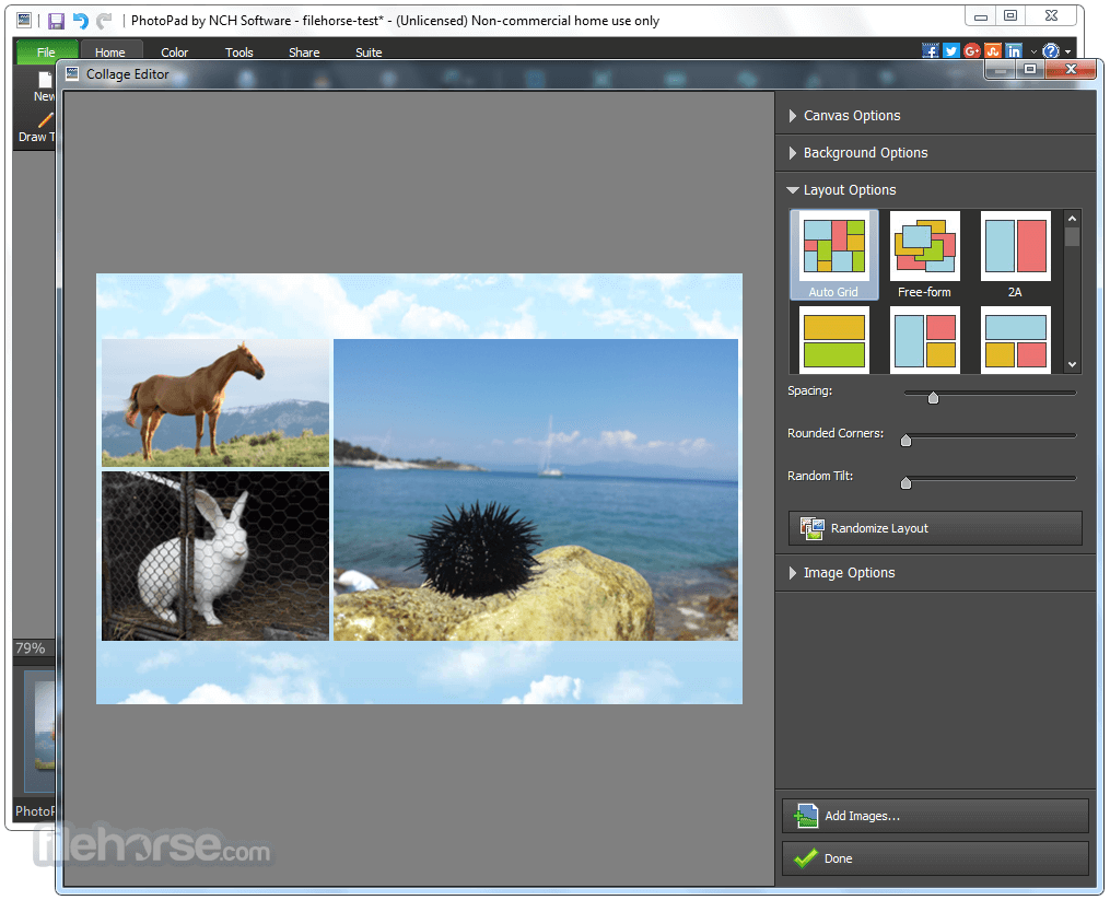 PhotoPad Image Editor 4.18 Screenshot 4