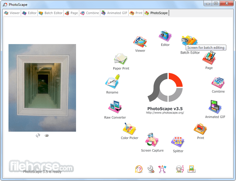 PhotoScape 3.7 Screenshot 1
