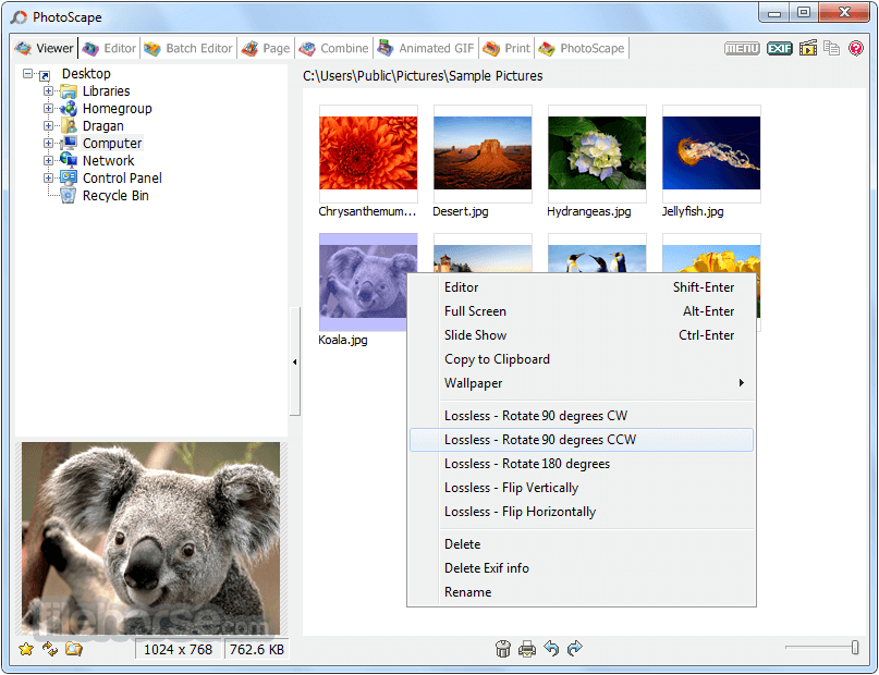 PhotoScape 3.7 Screenshot 2