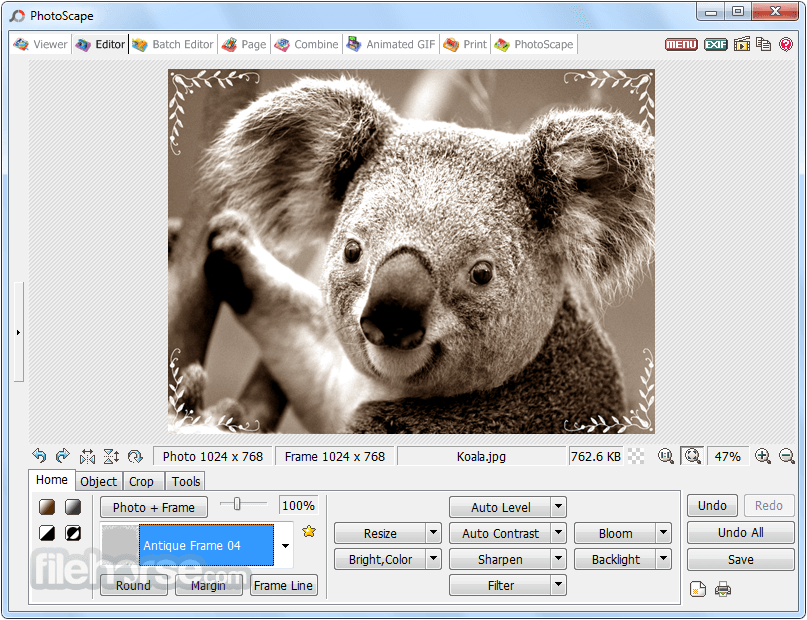 PhotoScape 3.7 Screenshot 3