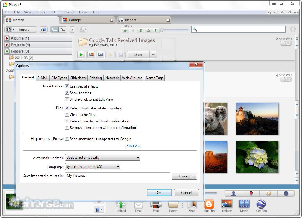Picasa 3.9 Build 141.303 Captura de Pantalla 4