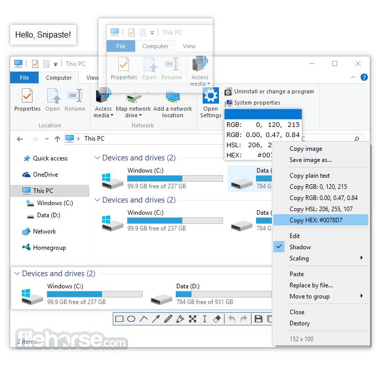 Snipaste 1.16 (32-bit) Captura de Pantalla 3