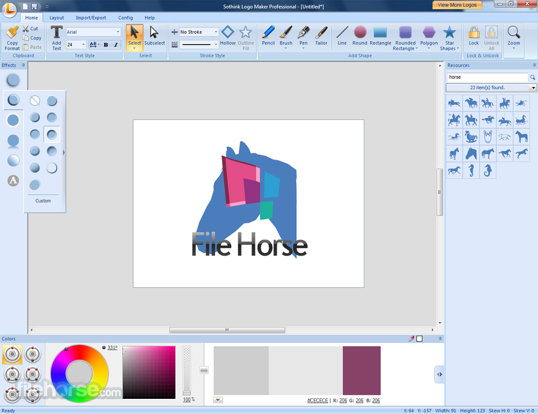Sothink Logo Maker Professional 4.4 Build 4625 Captura de Pantalla 2