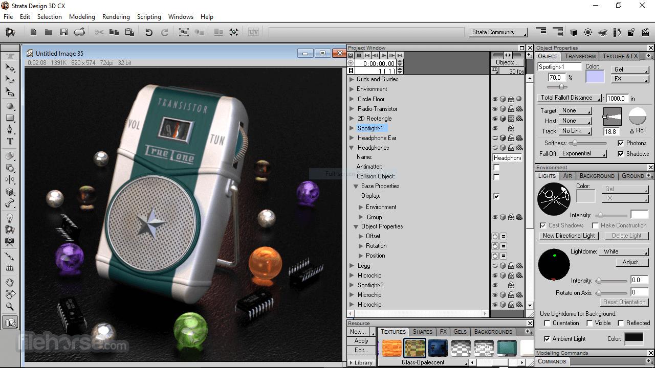 Strata Design 3D CX 8.0 Screenshot 2